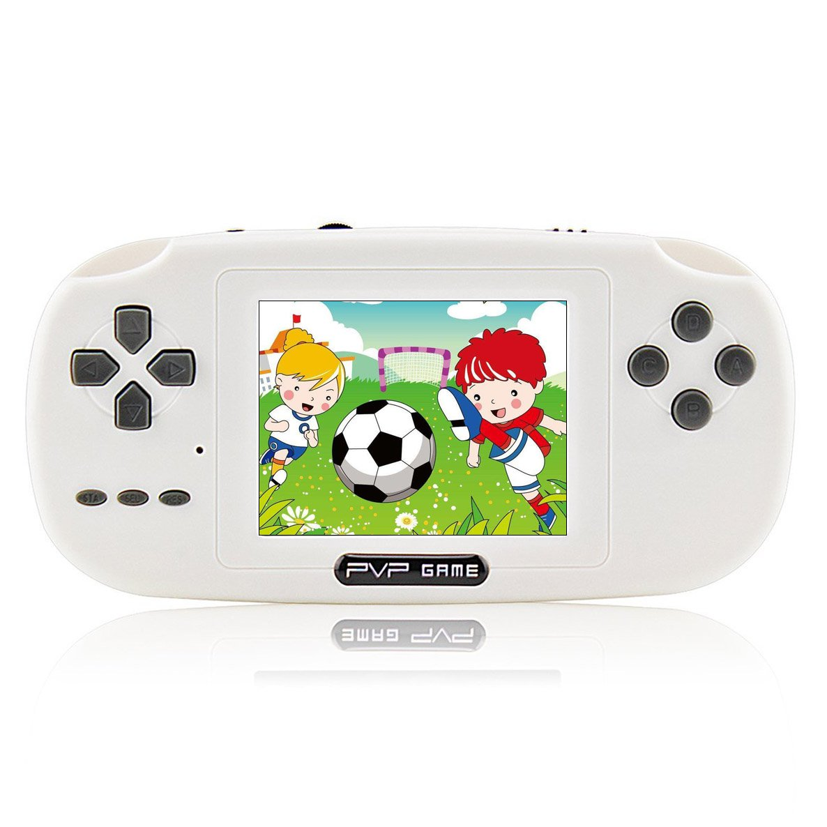 """Anbernic Handheld Game Console Game Console 2.8"""" 168 Games LCD PVP Game  Player Classic Game Console 1 USB Charge Presents for Children-White:  Amazon.co.uk: ..."""