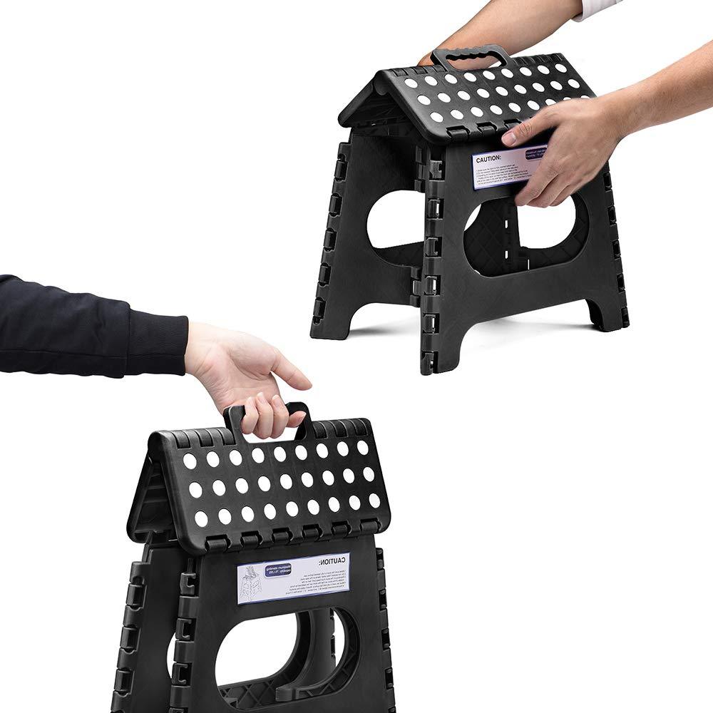 Black Friday Acko Folding Step Stool Lightweight Plastic