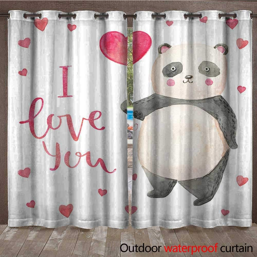 BlountDecor I Love You Home Patio - Cortina para Exteriores (108 x ...