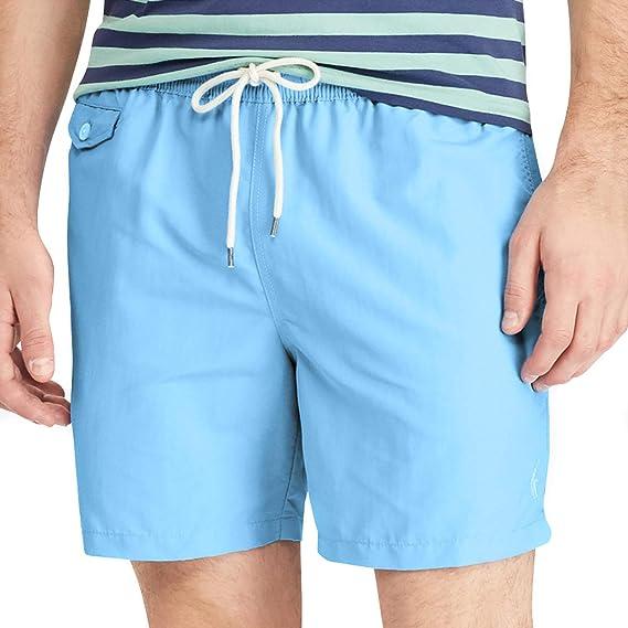 b103ab661d Ralph Lauren New Mens Light Blue Swimming Trunks Board Swim Shorts (X-Large)