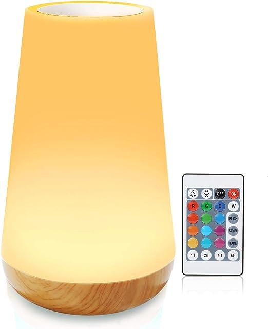 Wiederaufladbare warmweiße Nachtlicht Nachtlicht Nachttisch Touch LED Lampe