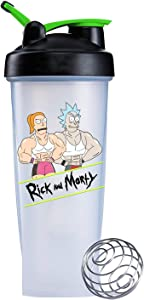 Rick and Morty Rick's Gym 28-Ounce Shaker Bottle with Loop Top