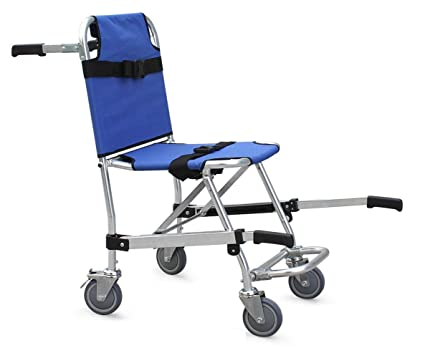 Silla para escaleras EMS Emergency 4 Wheels Ambulance Firefighter Evacuation Medical Transport Chair, 350 lbs