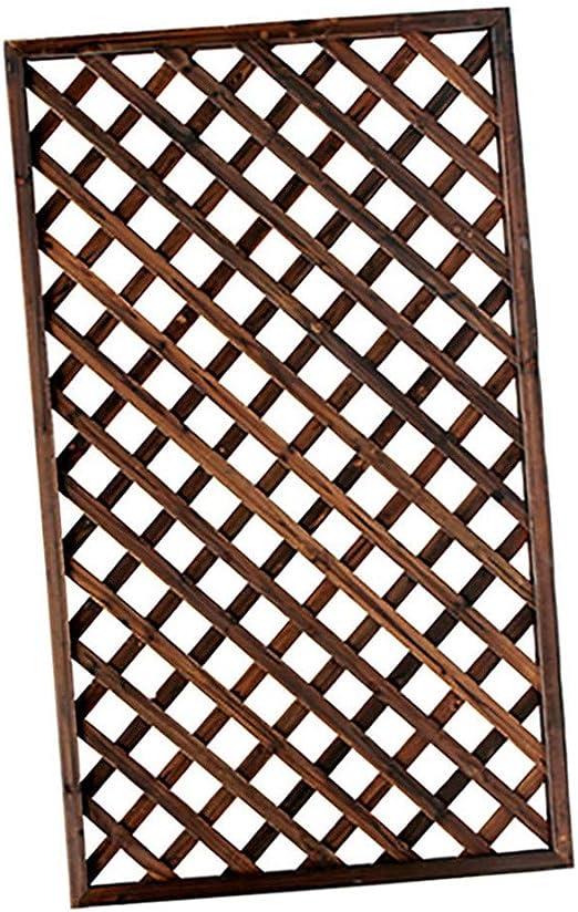 QBZS-YJ Sólido Madera Jardín Enrejado Panel de la Pantalla de privacidad Enrejado Valla Valla Puerta del jardín del Panel Panel de Pared de Madera al Aire Libre: Amazon.es: Hogar
