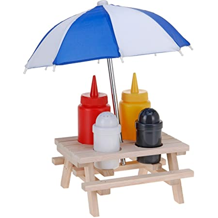 Novelty Condiment Holder Picnic Table With Umbrella Amazoncouk - Condiment holder for table
