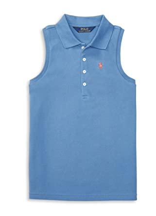 Amazon.com: Polo Ralph Lauren Big Girls\u0027 (7-16) Sleeveless Polo  Shirt-Bermuda Pink (French Blue, Small (7)): Clothing