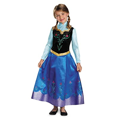 Anna Traveling Prestige Child Costume, Small (4-6x): Toys & Games