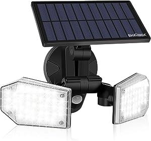 SHARBDA Solar Sensor Lights, Solar Lights Outdoor with Motion Sensor, 78 LED IP65 Waterproof 360°Adjustable Solar Flood Lights Outdoor for Garden Patio Yard Garage Path