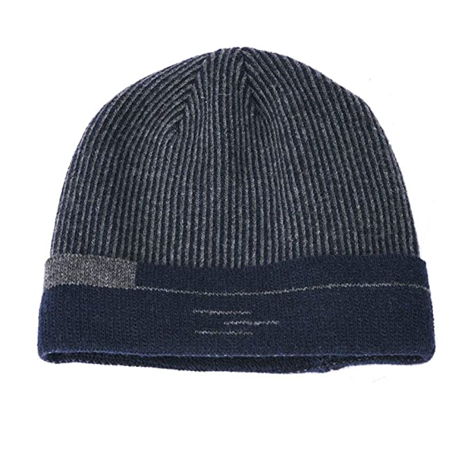 a8323589886 Amazon.com - SUKEQ Beanie Hat for Men and Women Winter Warm Fleece Lining  Knit Hat Slouchy Thick Snow Ski Skull Cap (Navy) -