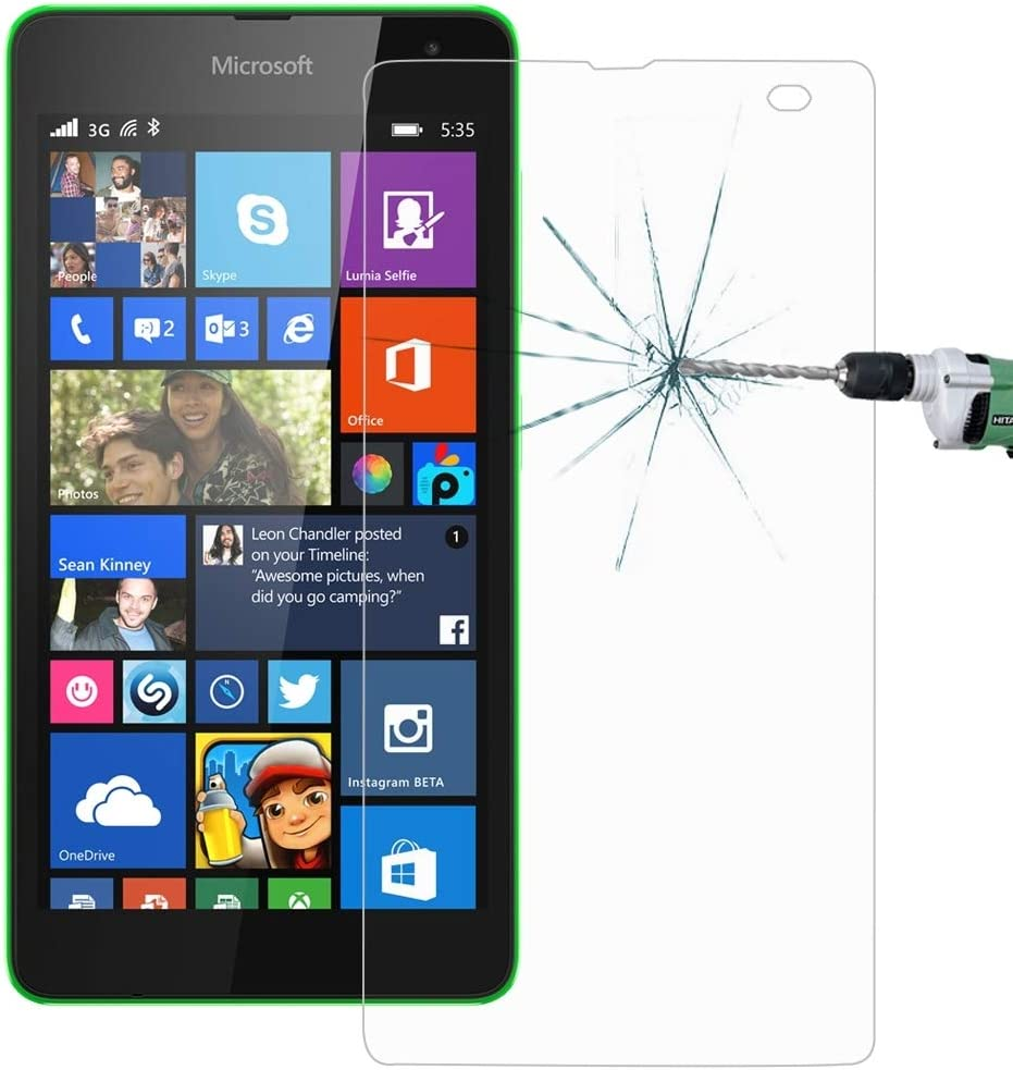 ZYS Screen Protector 100 PCS for Microsoft Lumia 535 0.26mm 9H Surface Hardness 2.5D Explosion-Proof Tempered Glass Screen Film
