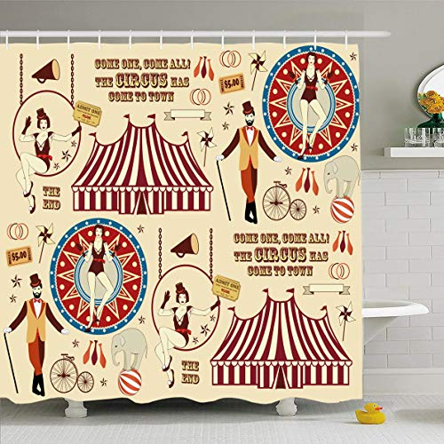 Ahawoso Shower Curtain 60x72 Inches Costume Vintage Pattern