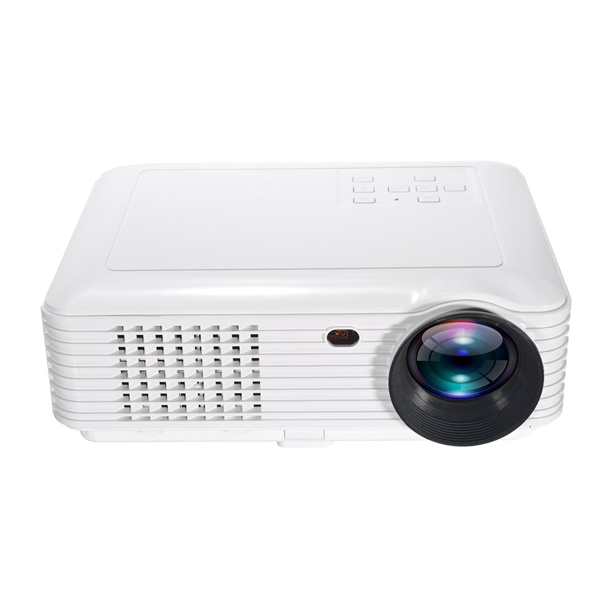 LED Projector,ELEGIANT 3500 Lumens Mini Portable Home Theater Projector 800x480 Resolution Support 1080P USB VGA SD AV for Home Theater Video Games Gaming Business Presentations White by ELEGIANT