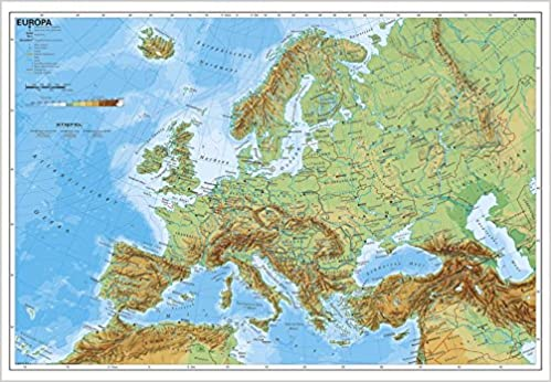 physische karte europa Europa physisch: Amazon.de: Stiefel Eurocart: Bücher