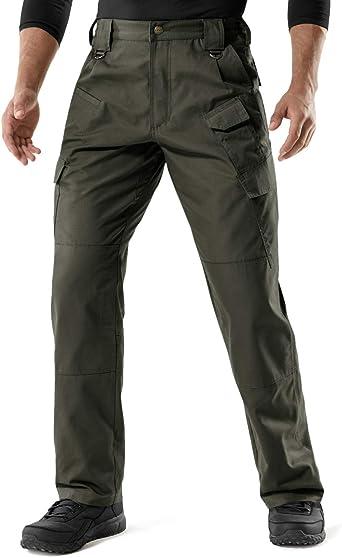 Men Cargo Thermo Pants Lined Pocket Lockable Trekking Work Warm Activity
