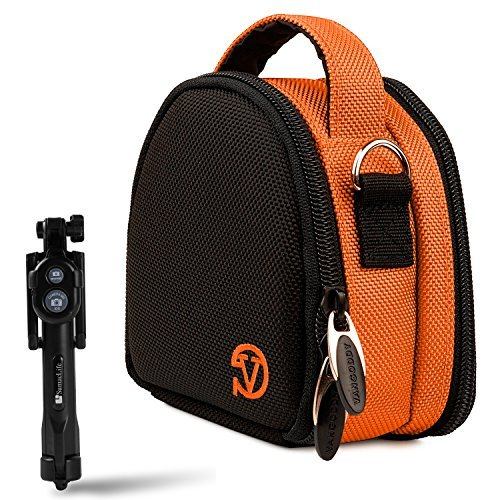 Garmin Ultra 30 / VIRB XE X Sports Action Camera Orange Carrying Shock Proof Bag Case + Bluetooth Monopod Selfie Stickの商品画像