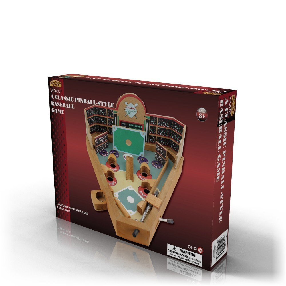 Homeware Classic Wood Pinball Style Baseball Game by Homeware