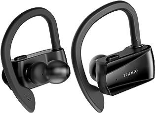 TGOGO Bluetooth Auriculares D15 Estilo Auriculares Inalámbricos Deportivos Anti-Sudor con Micrófono Estéreo para iPhone, iPad, Samsung, Nexus, HTC, Echo, Gimnasio Carrera a Pie Ciclismo Entrenamiento
