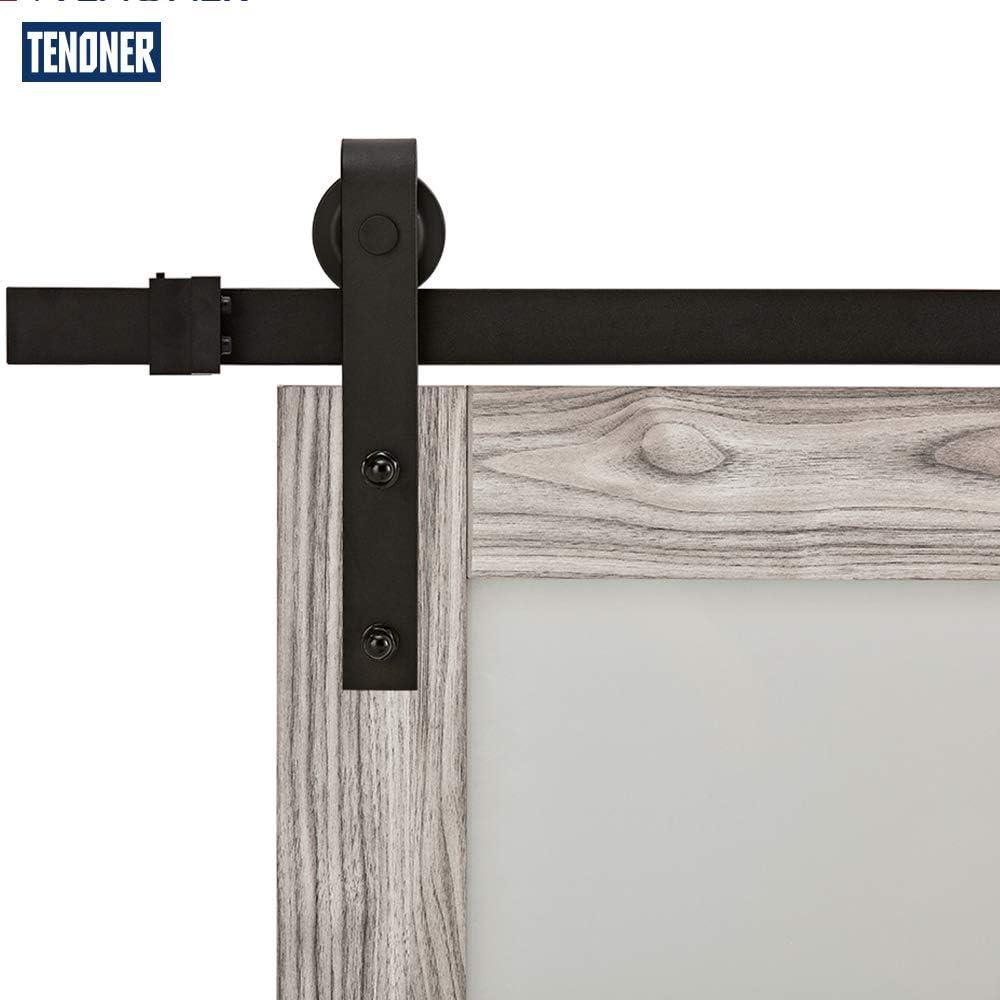 TENONER DIY Grey Sliding Barn Door,with Barn Door Hardware Kit 36 inches x 84 inches