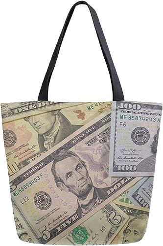 Naanle Dollar Bolso de lona grande para mujer, bolso de hombro ...