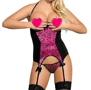 29f0d85f0 MarysGift Women Ladies Suspender Belt Teddy Bodysuit Sexy Lingerie Sets  Leotard Teddies Pole Dance Plus Size UK 6 8 10 12 14 16 18 20   Amazon.co.uk  ...
