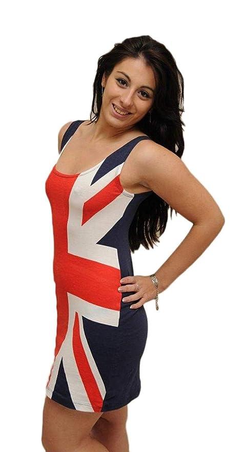 Ladies Union Jack Fitted Dress