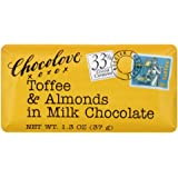 Chocolove Toffee And Almond Milk Chocolate Mini Bar, 1.3-Ounces (Pack of 12)