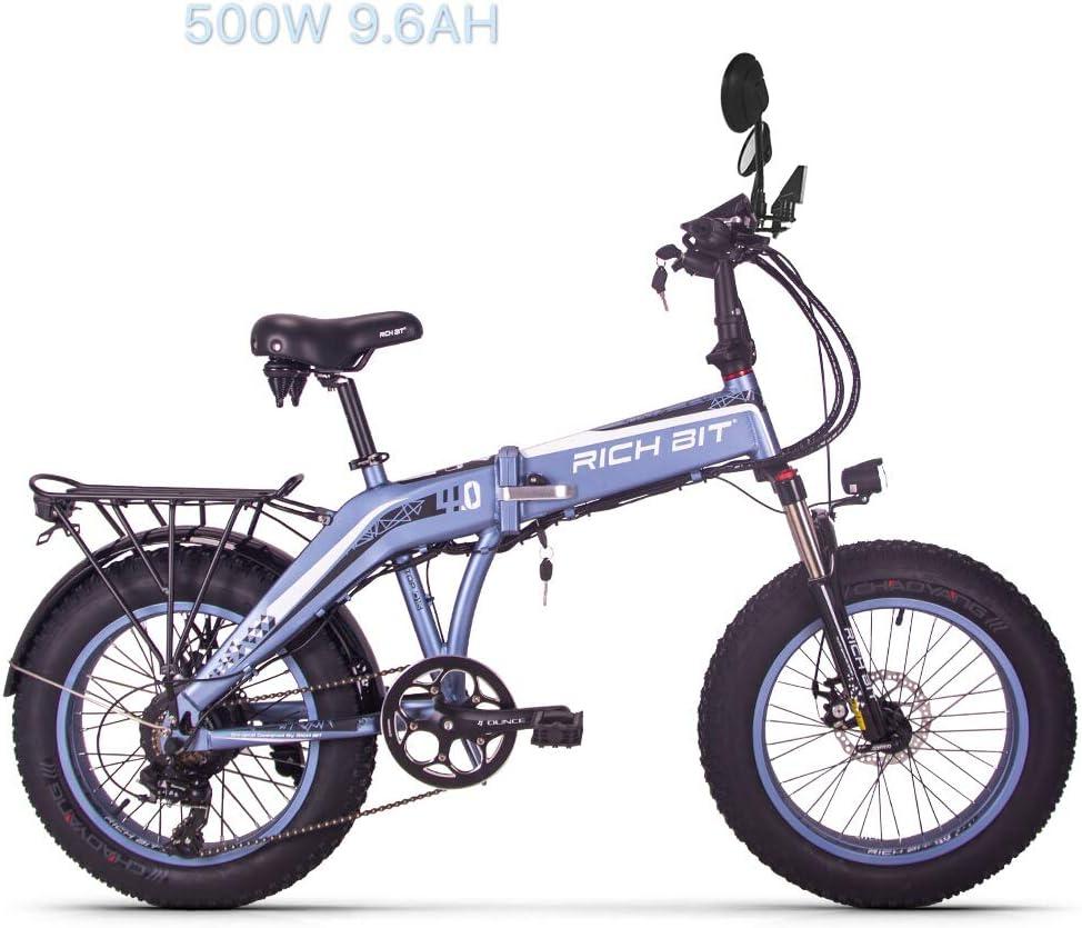 eBike_RICHBIT 016 Bicicleta eléctrica, 48V 500W 8AH Bicicleta de ...