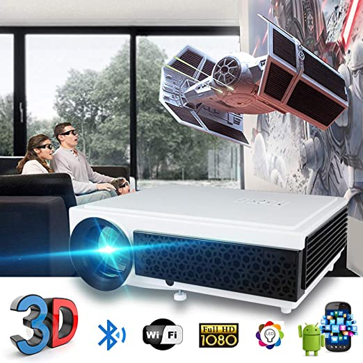 KAIDILA Proyector, Pantalla del led 96 + proyector 3D Home Theater ...