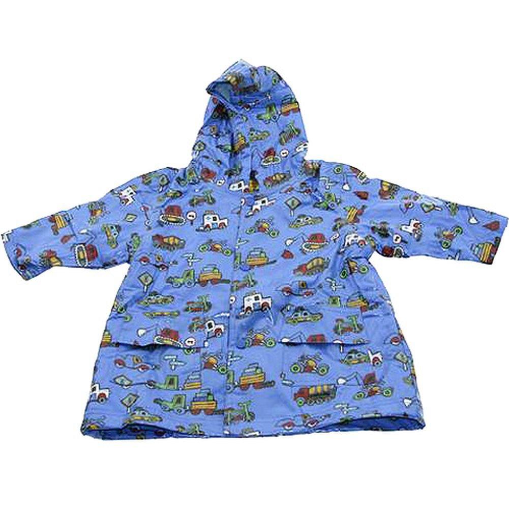 Pluie Pluie Boys Outerwear Blue Truck Print Unlined Raincoat 12M-8