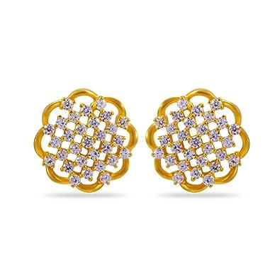 ea1aa6379d4f2 Joyalukkas Impress Collection 22k Yellow Gold Stud Earrings for Women