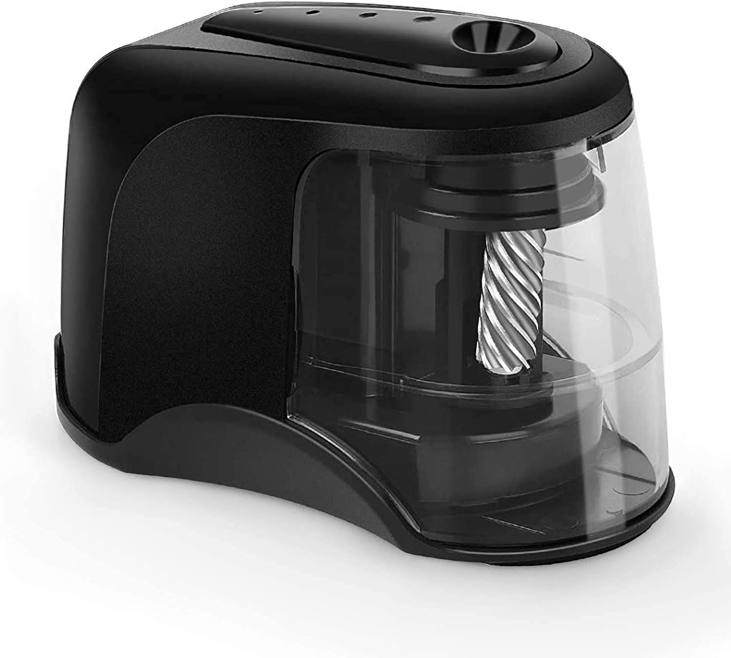 Electric Pencil Sharpener, Heavy-Duty Helical Blade to Fast Sharpen, Pencil Sharpeners for USB/Battery Operated, Suitable for No.2/Colored Pencils(6-8mm)/Classroom/Home/Office - Black : Office Products