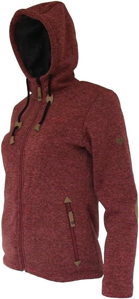 Maul Damen Chieming mit Kapuze Polar-Strickfleece Jacke