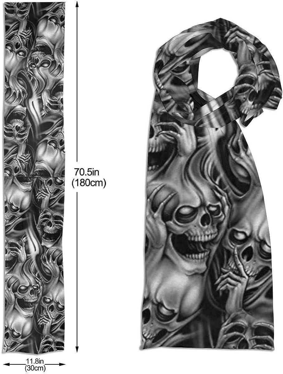 Sugar Skulls Day Of The Dead Unisex Long Scarf Knit Fashion Scarves Warm Winter Neck Gaiters Scarf For Men Women
