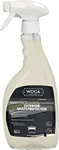 WOCA Denmark Exterior Multi Protector For Outdoor Patio Furniture - Ready To Use Spray For Poly Rattan, Plastic Garden Furniture, Siding And Fencing – Rejuvenates and Protects - 750 ml