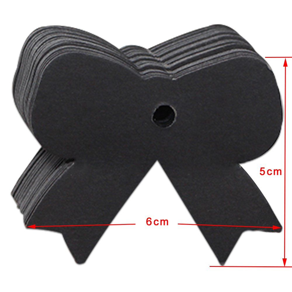 Kraft Paper Favor Gift Decoration Hang Tags Price Labels Craft Paper Bonbonniere Merchandise Bookmarks Note Christmas Festival Wedding Birthday Party Tool Cards 5x6cm (1.9x2.3 inch) (300 Pcs, Black)