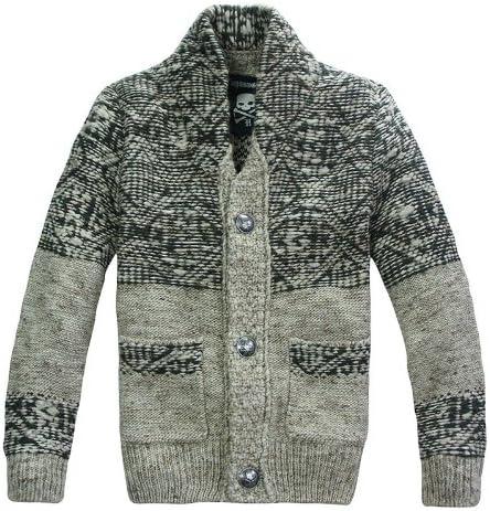 2020 新品 暖 メンズ 長袖 ニット セーター カーディガン スタンドカラー レジャー YC617