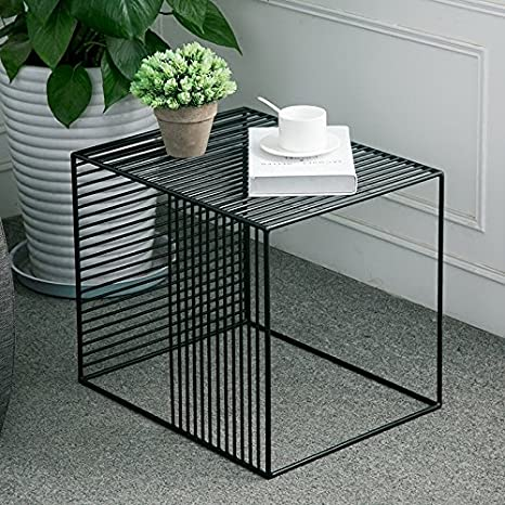Fine Wgx Square Wrought Iron Coffee Table Outdoor Iron End Table Nesting Side Tables Plant Stand Black Set Of One B L19Xw14 5Xh15 7 Short Links Chair Design For Home Short Linksinfo