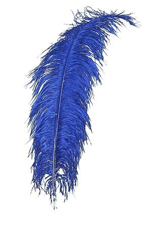Straußenfeder Blau Fasching