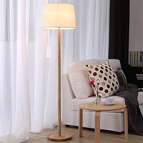 Lámpara de pie Lámpara de pie de madera de caucho sólido de ...