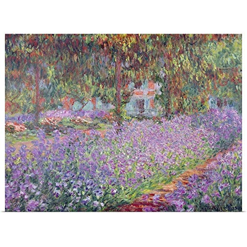 GREATBIGCANVAS Poster Print Entitled The Artists Garden at Giverny, 1900 by Claude Monet 24