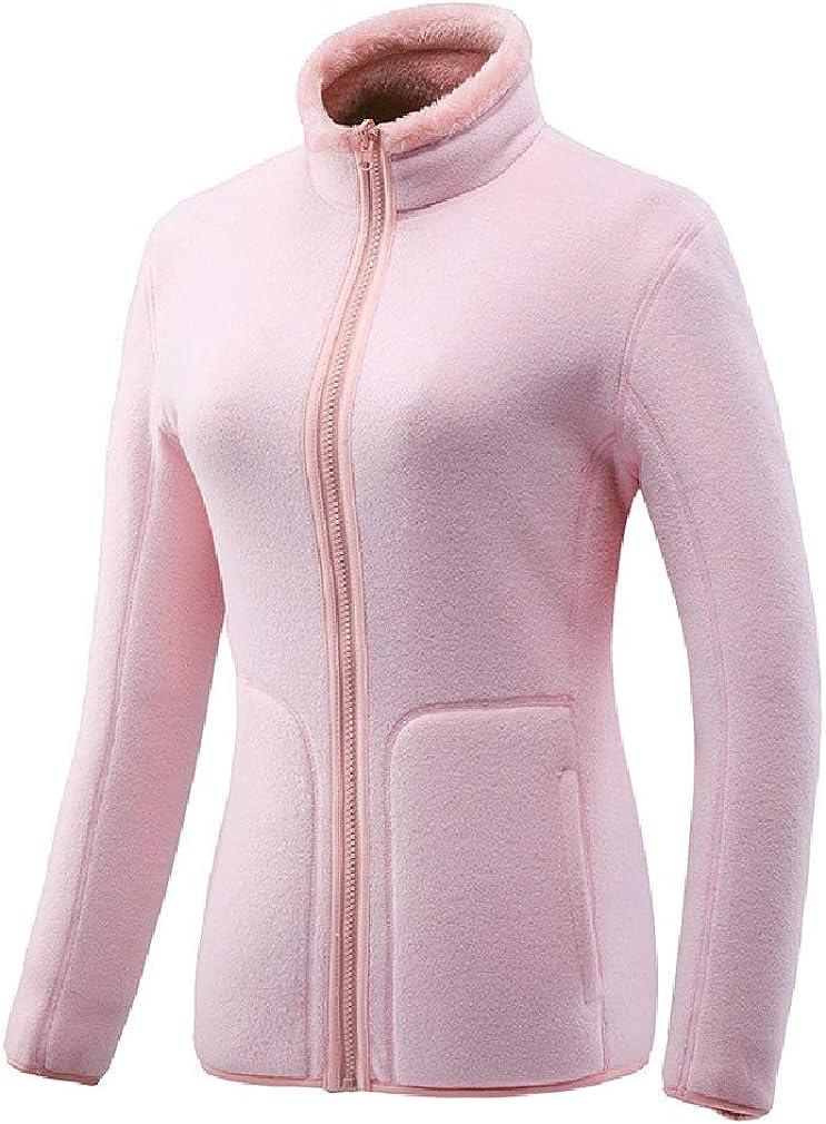 Comaba Mens Full Zip-up Fluffy Fleece Outerwear Winter Reversible Sweatshirt