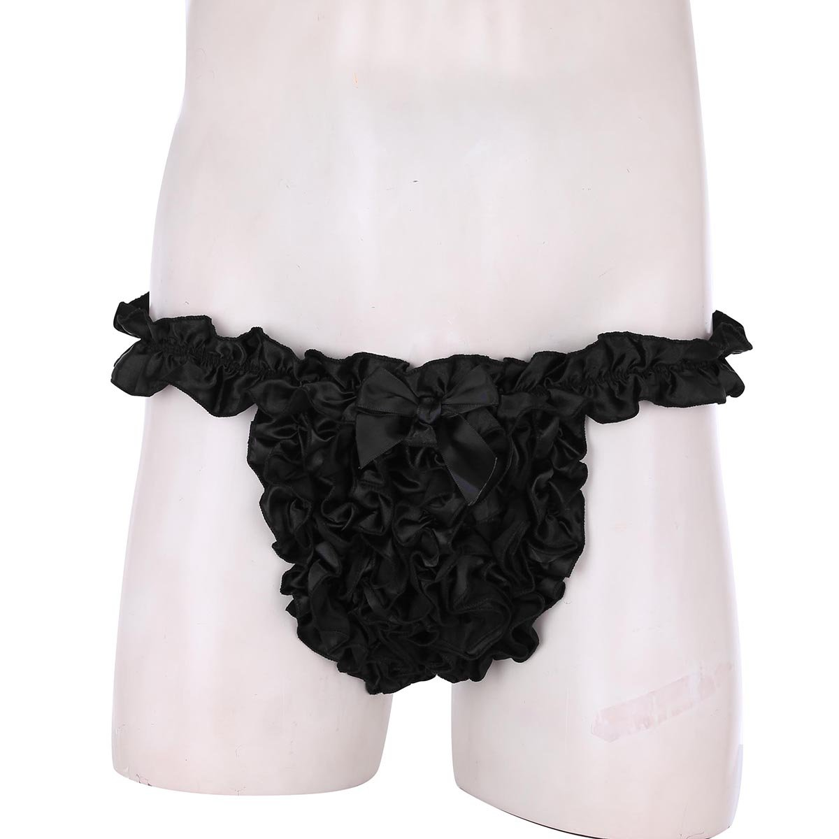 af9bd87cbbdb MSemis Luxury Supper Frilly Stain Ruffled Sissy Crossdress Men's ...