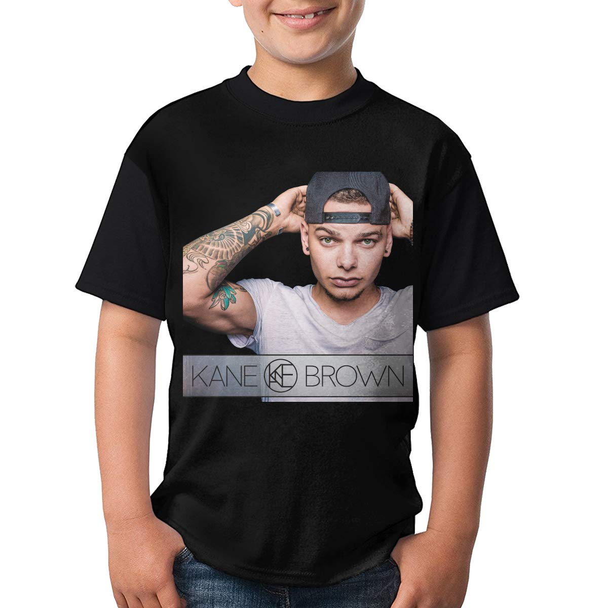 Kane Brown Short Sleeve T-Shirt Sport Casual Classic Jersey for Teens Youth Round Neck T-Shirts