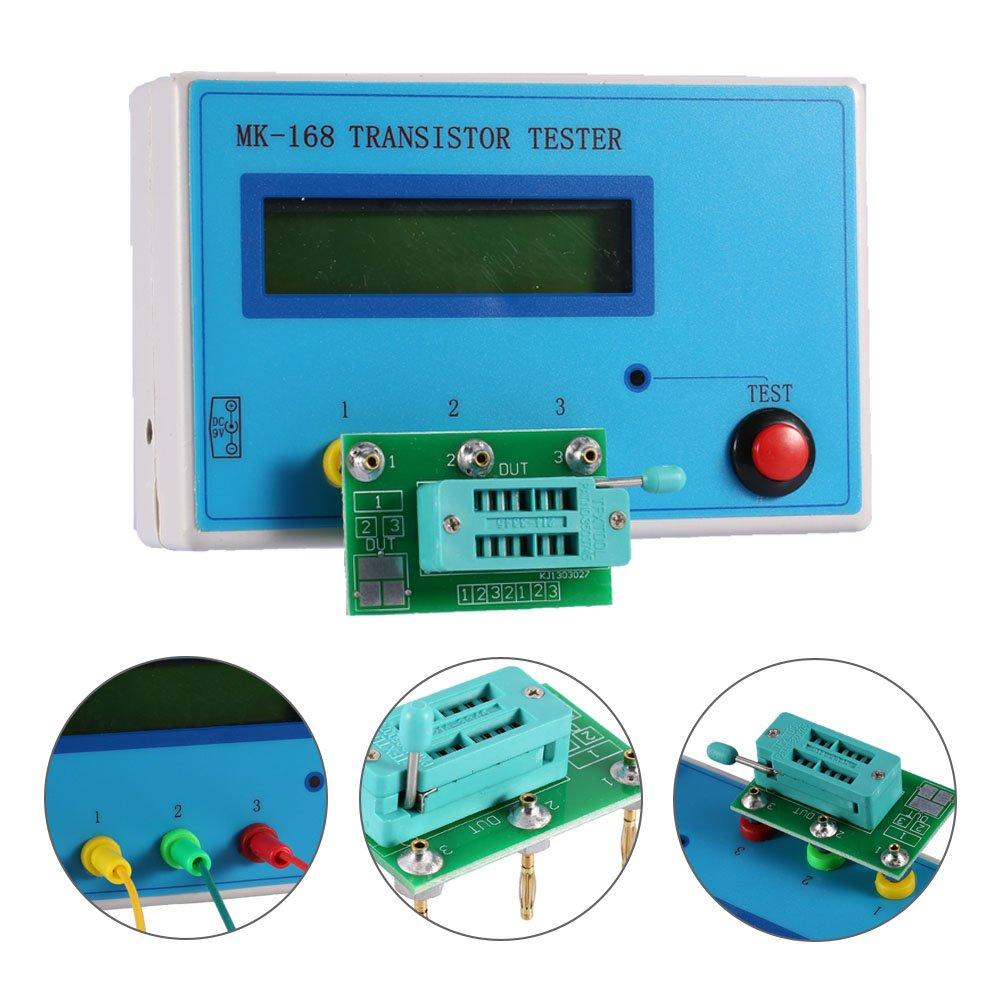 Yosoo Transistor Npn Pnp Mosfet Diode Tester Capacitor Esr Resistor Good Bad Meters Multi Testers Industrial Scientific