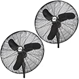 Air King Industrial Grade 3 Speed 30 1/3 HP Oscillating Wall Mount Fan (2 Pack)