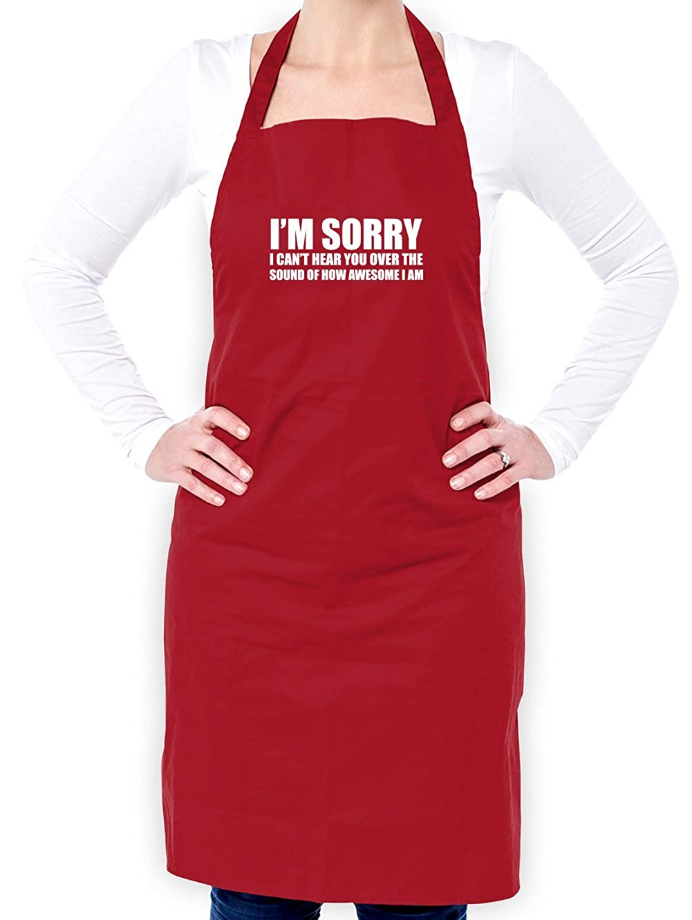 Dressdown Sorry I Cant Hear You Over The Sound Of How Awesome I Am 2 Colours Unisex Fit Apron
