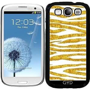 Funda para Samsung Galaxy S3 (GT-I9300) - Rayas Doradas by Andrea Haase