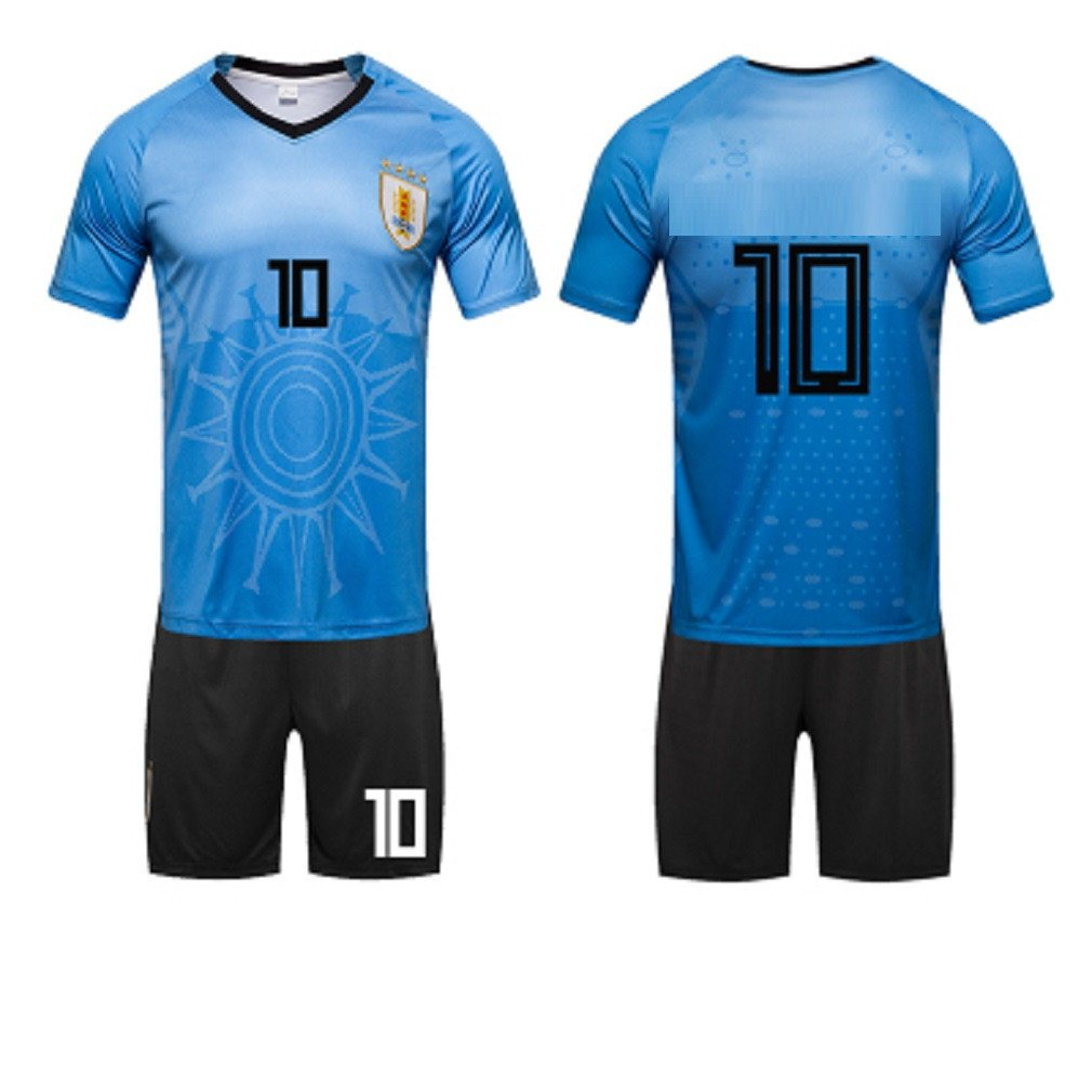 1 pack 2018,Uruguayan Jersey,Germany,silverina,Football Suit,Suit,Male,Brazilian,Portal,TShirt,10,Soccer Game