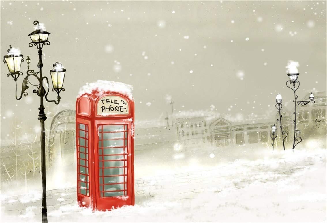 LFEEY 雪の風景 冬 ショーフレーク 背景 クリスマスツリー 自然の景色 写真 背景 ハッピーニューイヤー フォトスタジオ 小道具 ホリデーパーティー デコレーション ビニールバナー 6x4ft QNSW00428 B07HQFLNM3