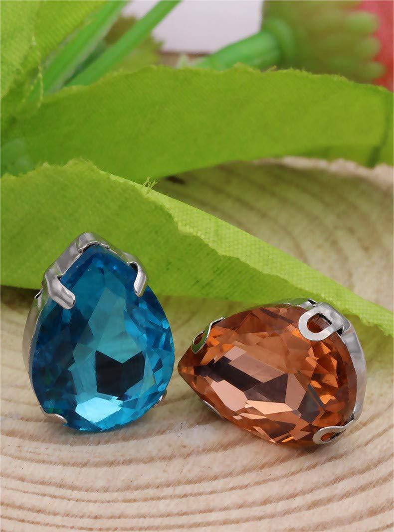 Ototon Lote de 100 Piedras Preciosas Brillantes de Resina acr/ílica de Colores para Coser para Accesorios de decoraci/ón de Ropa fabricaci/ón de Joyas